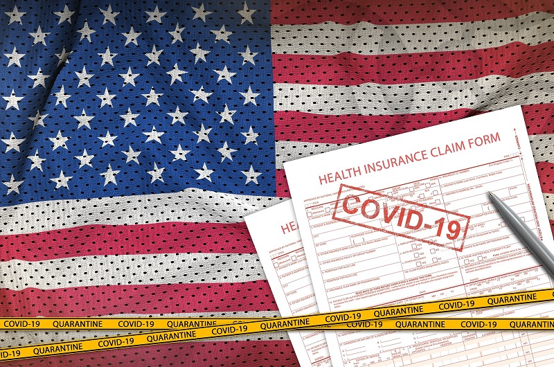 US COVID-19 health insurance form