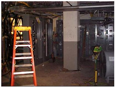 Electrical Room that was Fully Inundated as a Result of Tropical Storm Allison