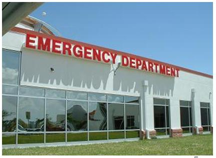 Acute Care Facility with Impact Resistant Windows
