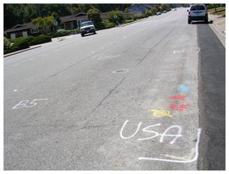 Street boring—properly marked (USA is Northern California's group)