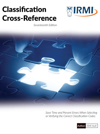 Classification Cross-Reference - Print Edition