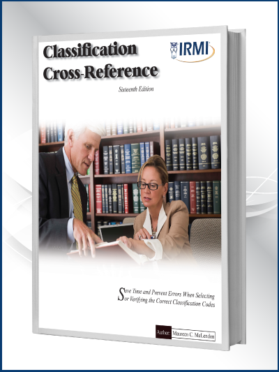 Classification Cross Reference Book