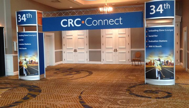 CRC Connect banner at the IRMI Construction Risk Conference in Nashville